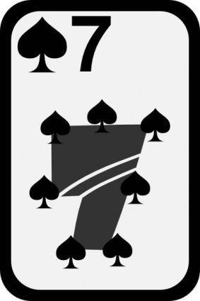 free vector Seven Of Spades clip art