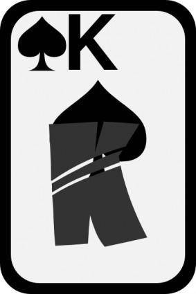 free vector King Of Spades clip art