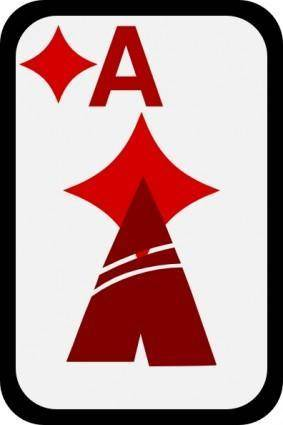 free vector Ace Of Diamonds clip art