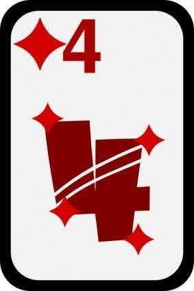 Four Of Diamonds clip art