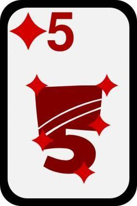 Five Of Diamonds clip art