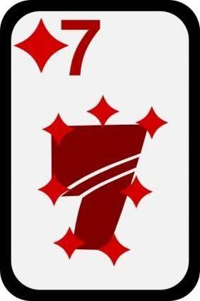 free vector Seven Of Diamonds clip art