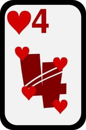 Four Of Hearts clip art