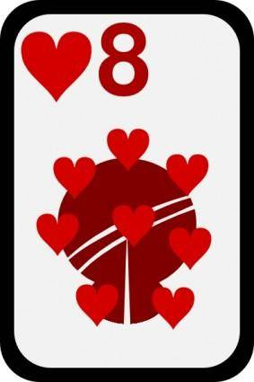 Eight Of Hearts clip art