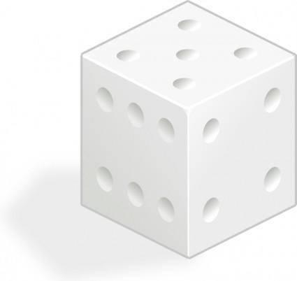 free vector White Dice clip art