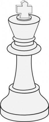 White King Chess clip art