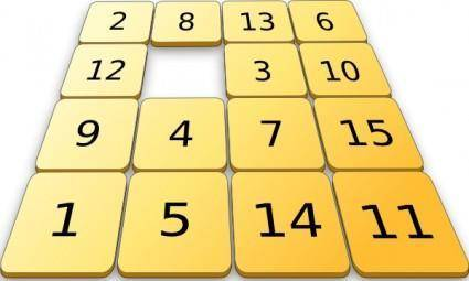 free vector Number Sorting Game clip art