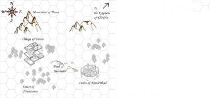 free vector Role Playing Game Map clip art