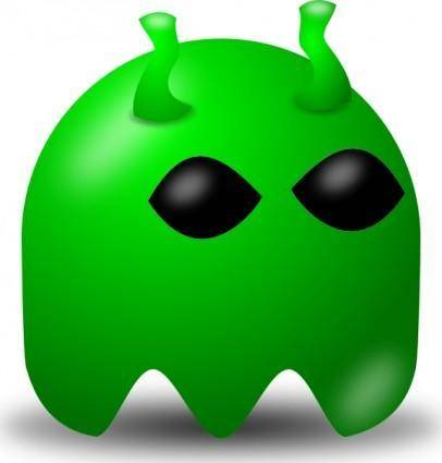 Pcman Game Baddie Alien clip art
