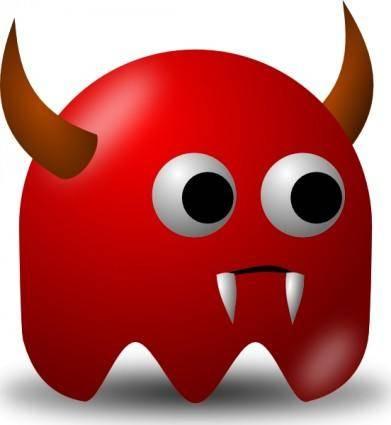 free vector Pcman Game Baddie Devil clip art