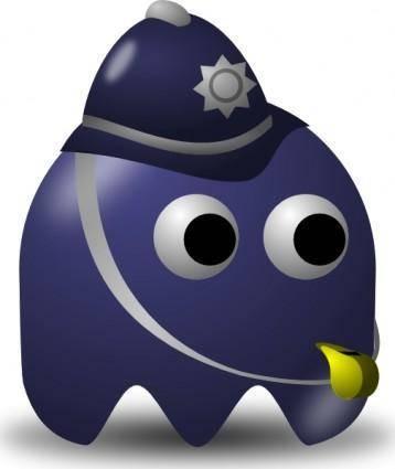 Pcman  Game Baddie Policeman clip art