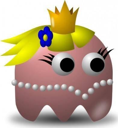 Pcman  Game Baddie Princess clip art