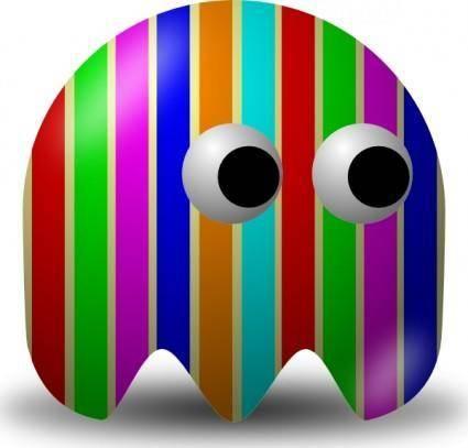 free vector Pcman  Game Baddie Stripey clip art