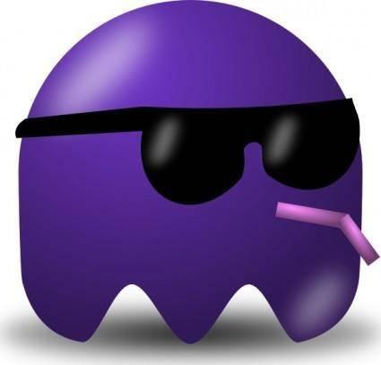 free vector Pcman  Game Baddie Sunglasser clip art