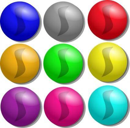 free vector Game Marbles Dots clip art