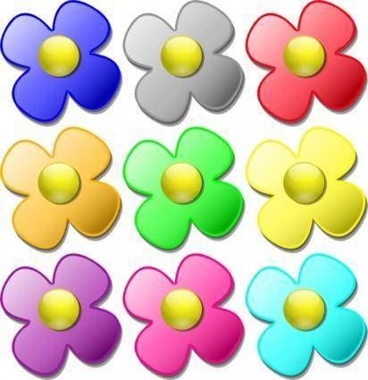 Game Marbles Flowers clip art