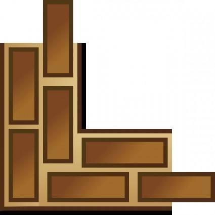 free vector Game Map Brick Border clip art