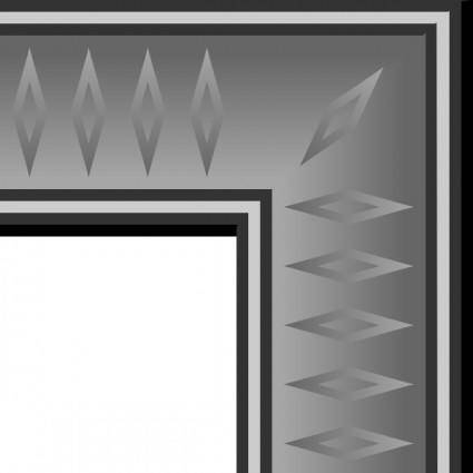 Game Map Graphite Border clip art