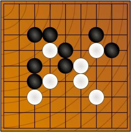 Go Wei Chi Board Game clip art