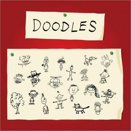 free vector Children Art Doodles