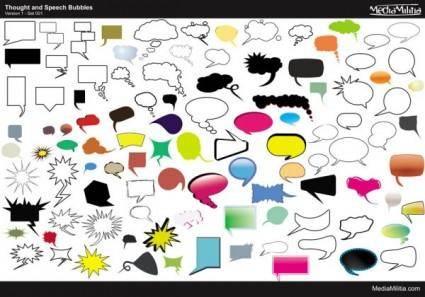 free vector Conversation bubbles vector 104 models