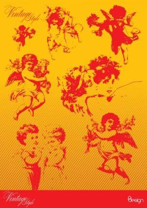 free vector Vintage Angels