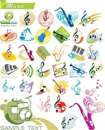 free vector Vector graphics theme music