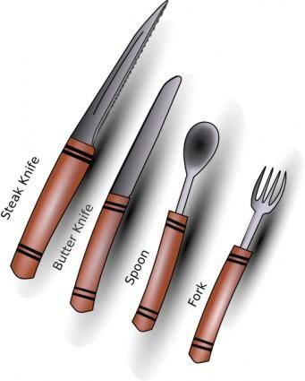 Apbiehle Simple Cutlery Silverware clip art