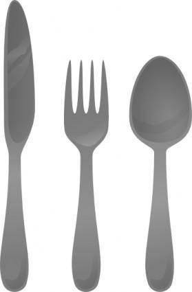 free vector Moself Cutlery clip art