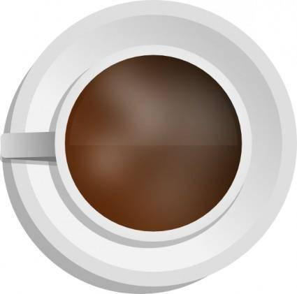 Mokush Realistic Coffee Cup Top View clip art
