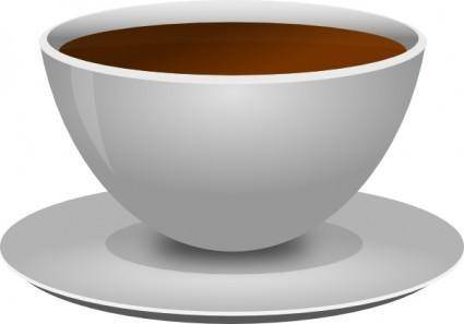 Mokush Realistic Coffee Cup Front D View clip art