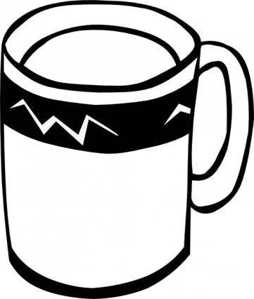 Coffee (b And W) clip art