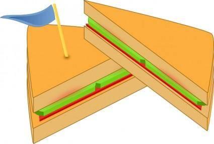 free vector Ashkyd Sandwich With A Flag clip art