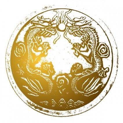 free vector Babayasin Ancient Chinese Dragons clip art