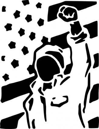 free vector Dissent Is Patriotic clip art