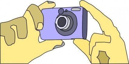 free vector Holding Digital Camera clip art