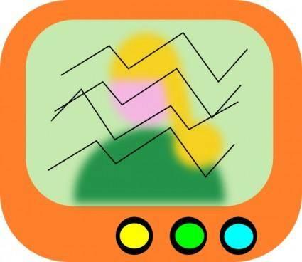 free vector Spacm Tv Icon clip art