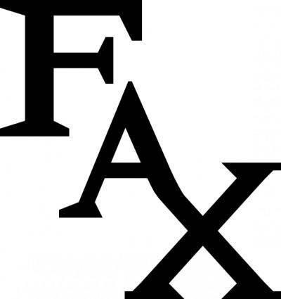 Fax Icon clip art
