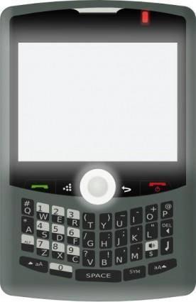Blackberry Curve clip art