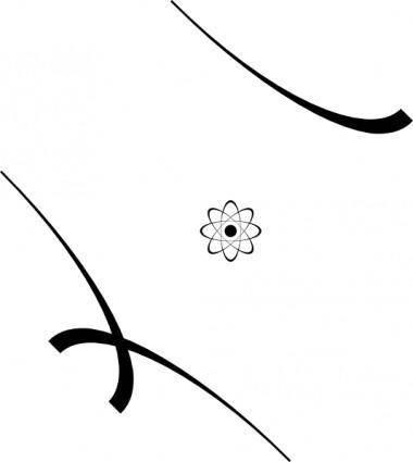 free vector Stylized Atom clip art