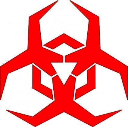 Pbcrichton Malware Hazard Symbol Red clip art