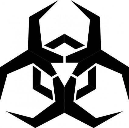 free vector Pbcrichton Malware Hazard Symbol clip art