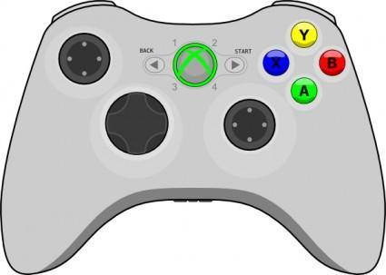 free vector Xbox Gamepad clip art