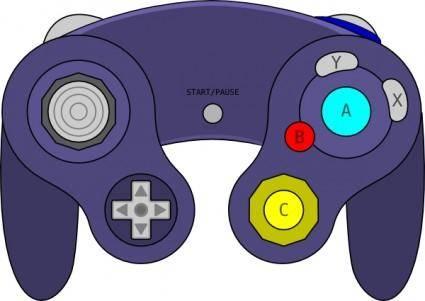 Gamecube Gamepad clip art