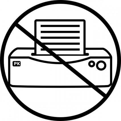No Printer Icon clip art