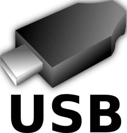 3d Usb Input Output Plug clip art