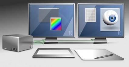 Graphic Workstation clip art