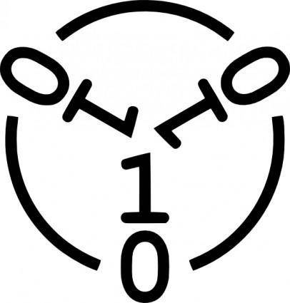 Malware Warning Symbol clip art