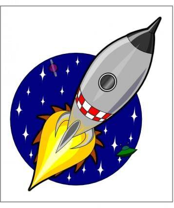 Kliponius Cartoon Rocket clip art