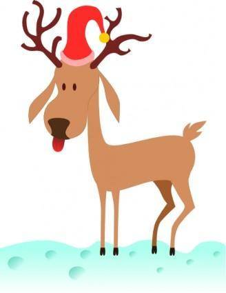 free vector Kablam A Cartoon Reindeer clip art
